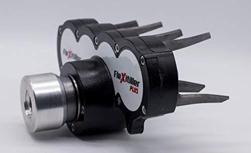 Fresa Universale per Decespugliatore Flexitiller Plus Nero 4 rotori carter in fusione alluminio