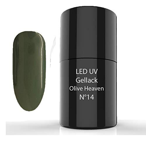 LED UV Gellack, UV Nagellack, UV Lack, 6ml (14 Olive Heaven)