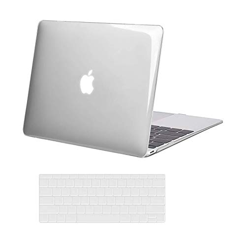 MOSISO Compatible with MacBook 12 inch Case with Retina Display (Model: A1534, Release 2017 2016 2015), Plastic Hard Shell Case & Keyboard Cover Skin, Crystal Clear