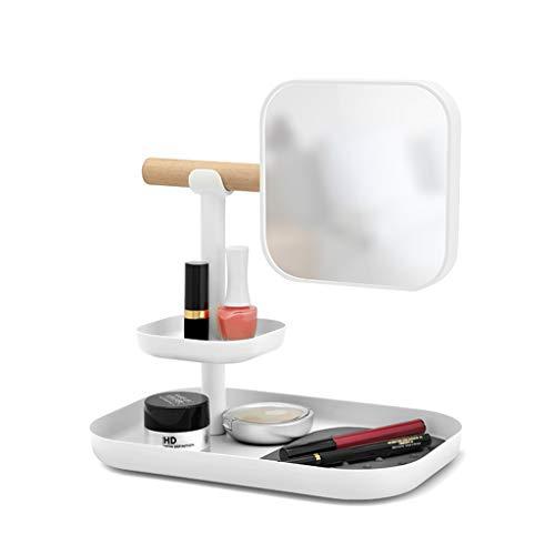 Boîte de rangement de bureau Boîte à bijoux Porte-bijoux de chambre à coucher sur plusieurs étages dans un dortoir à plusieurs étages Étagère de maquillage pour cosmétiques