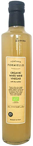 FONTANA FORMIELLO Organic White Wine Vinegar - Naturally Fermented with Mother 500ml