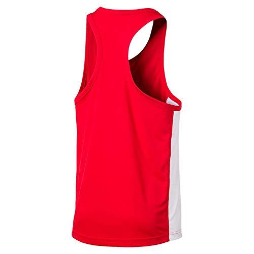 PUMA Herren Cross The Line Singlet Shirt, Red-White, 3XL