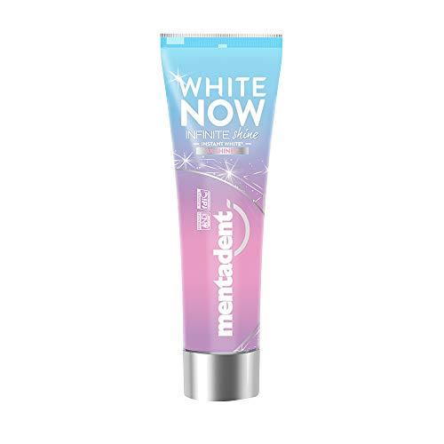 Mentadent White Now Infinite Shine Dentifricio Sbiancante, 75 ml