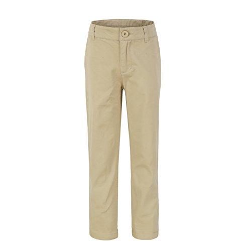 Bienzoe Jungen Baumwolle Einstellbar Taille Schuluniformen Hosen Khaki Größe 7