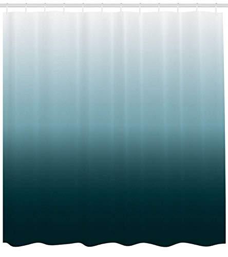 /N Cortina de Ducha Ombre Azul Verde Sombra HD Impermeable y ecológica