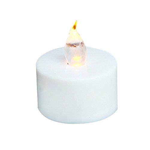 Sungpunet Lot de 12 bougies LED sans flamme pour décoration de fête d'anniversaire Piles incluses