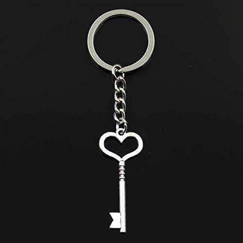 WANGWL Schlüsselbund 46x19mmSkeleton Keyanhänger DIY männer AutoschlüsselanhängerRing Halter schlüsselanhänger andenken schmuck Geschenk