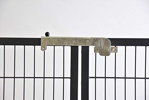 Zaun-Nagel Torriegel Riegel Verriegelung Torverschluss Torschlossriegel Doppelfalle für Tore mit Rahmen 40 mm Breite oder Rundrahmen mit 40 mm Durchmesser