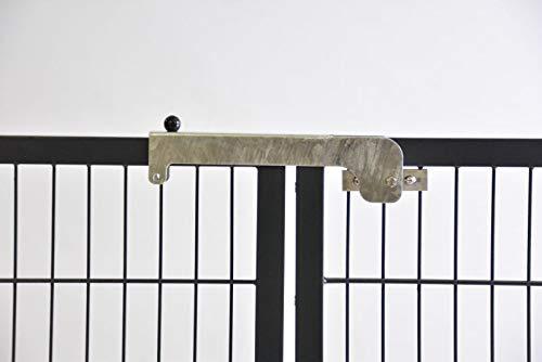 Torriegel Riegel Verriegelung Torverschluss Torschlossriegel Doppelfalle für Tore mit Rahmen 40 mm Breite oder Rundrahmen mit 40 mm Durchmesser