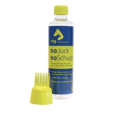 noJuck noSchupp 2-Phasen-Pflege-Komplex für Pferde und Hunde, Pflegemittel gegen Haarlinge & Sommerekzem und andere Juckreizauslöser, 250ml