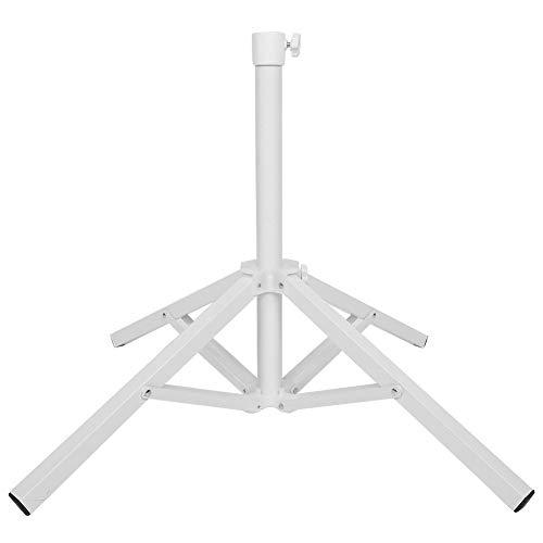 Asixx Soporte para sombrilla, Base de Parasol, Soporte de Parasol Plegable con Orificio Ajustable, Trípode de Parasol de Hierro para Playa, Jardín, Parasol de Publicidad, etc.