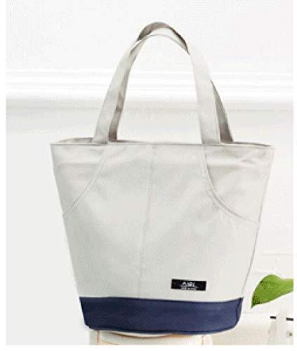nohbi Auslaufsicheres Lunch Tasche,Tragbare Kühltasche aus Aluminiumfolie, wasserdicht und tragbar, weiß,für Erwachsene Lunchpaket für Kinder Damen Herren