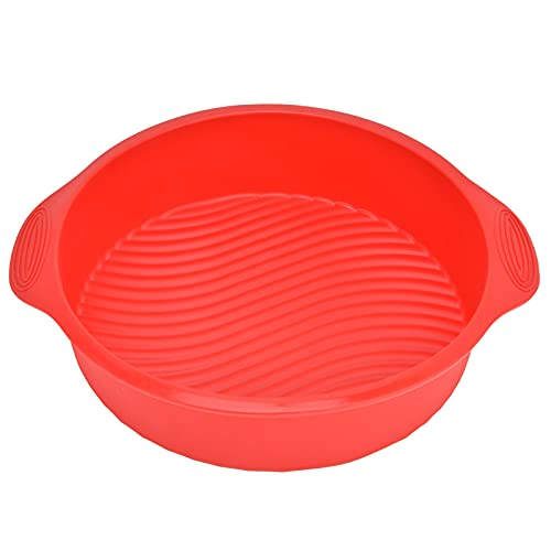 Stampo per torta, stampo per torta in silicone antiaderente riutilizzabile resistente alla corrosione per la cucina di casa per la maggior parte delle persone(rosso)