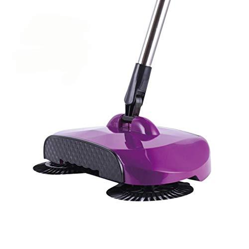 ZQJSC Mano Empuje aspiradora casera Suave Escoba aspiradora (Color : Purple)