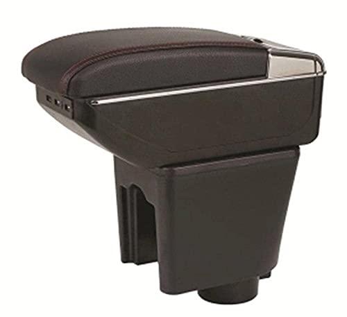 Centro Console Box Box ARMREST Brazo Rest Bandeja DE Apoyo para Chevrolet NEXIA Daewoo KALOS GENTRA 2003 2011 REVON R3 2016 2017 (Color : B Black Black Line)(B Black Black Line)