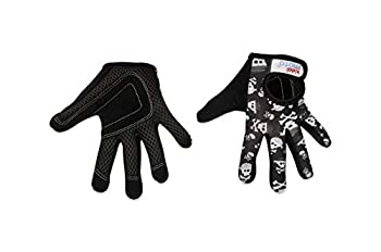 KIDDIMOTO Prime Sale Day Kids Cycling Full Finger Gloves - for Kids Bike Balance Bike Scooter and Skateboard  Gloves for Girls and Boys    Available in Different Sizes & Designs  Skullz Small