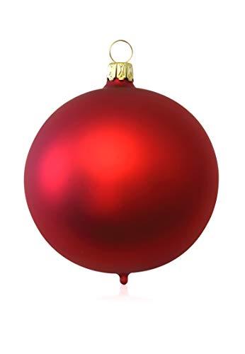 Kugeln rot matt 2 Stück d 12cm Christbaumschmuck Weihnachtsbaumschmuck mundgeblasen Lauschaer Glas das Original