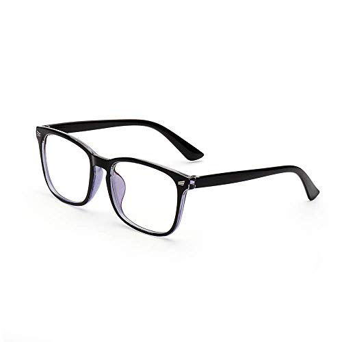 Blue Light Blocking Glasses Eyeglasses Eyewear Flat Mirror Computer Goggles Gaming Anti-Blue Light Glasses Radiation Protection (Copper Blue)