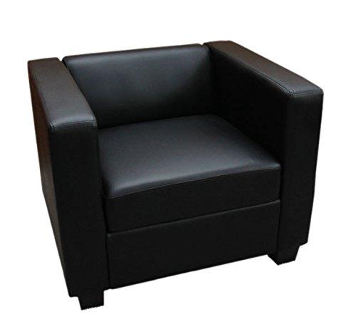 Mendler Fauteuil Club/Lounge Lille, 86x75x70cm, simili-cuir, noir