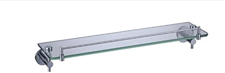 XAH@ Copper single layer glass shelf chrome 520 12211E pedestal bathroom accessories outlet , 52013060mm