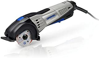 Dremel DSM20 Compact Saw 710 W, Circular Hand Saw with 3 Attachments, 4 Blades, 20 mm Cutting Depth and Abrasive Technolog...
