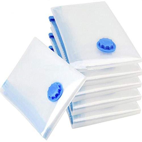 RSTJBH Nueva Bolsa De Vacío For El Hogar Bolsa De Almacenamiento De Ropa con Válvula Transparente Frontera Plegable Comprimido Organizador Ahorro De Espacio Sello Paquete Durable (Color : 40x50)