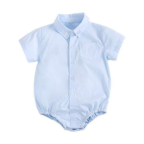 UMore Pack de 2 Bebé Body Mono de Manga Corta Mameluco Algodón Peleles Comodo Pijama Regalo de Recien Nacido