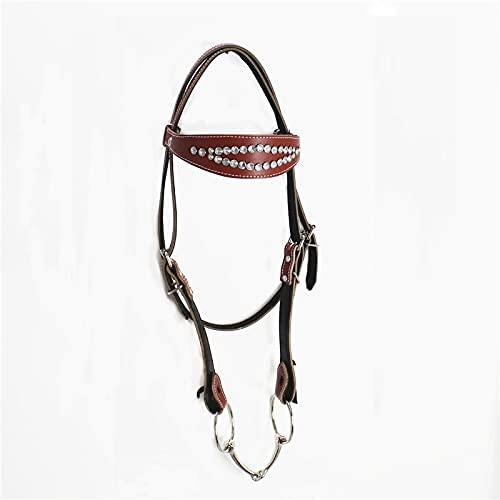 Adjustable Leather Milwaukee Ranking TOP20 Mall Halter for Equipmen Accessories Horse Horses
