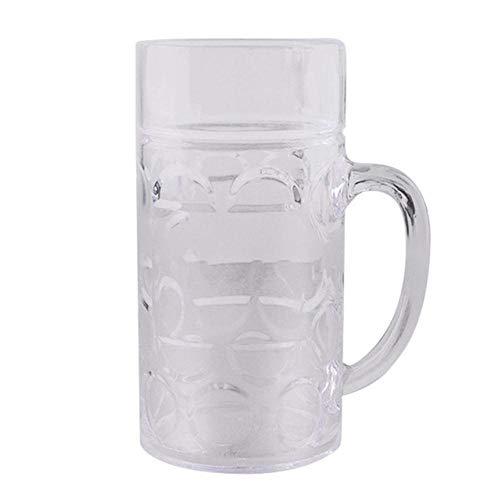 Copa De Vino Jarra De Cerveza De Plástico Reutilizable De 32 Oz 1 Litro Con Asas Copa De Piña Vasos De Cerveza De Plástico, Transparente, China