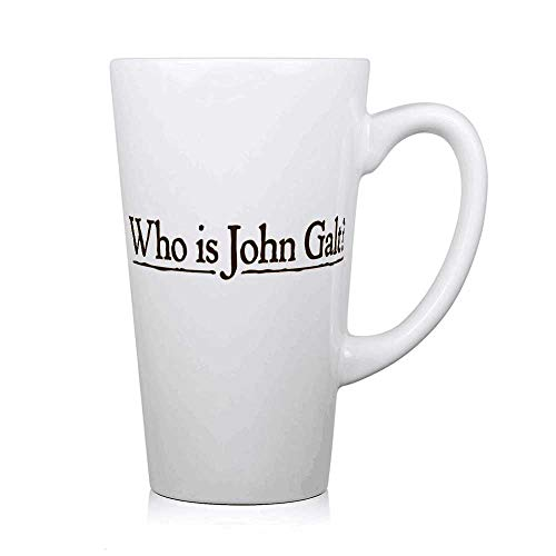 Who is John Galt Personalized High White Ceramic Coffee Cup Fun Mug Big Milk Glass Water Cup Mother's Day Father's Day Gift Birthday Gift Valentine Gift 16oz