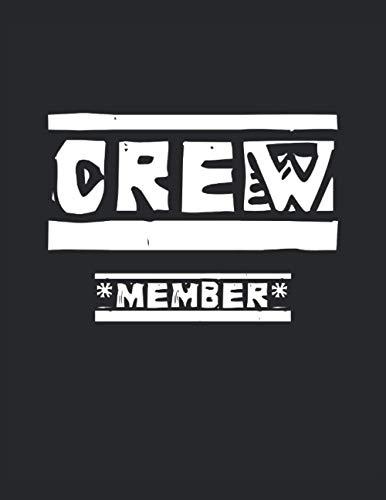 Crew Member - Membre d'équipage: Notebook |Damier, 21, 59 x 27, 94 cm (8, 5 'x 11'), 120 pages, pages de couleur crème, couverture mate
