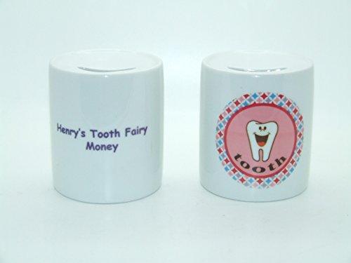 Tirelire personnalisé fabriqué sur commande Rose dent de lait Tirelire baptême naissance Cadeau de Baby Shower