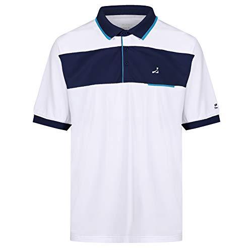 Under Par Polo de Golf para Hombre, de Calidad Profesional, Transpirable, 8 Estilos, 18 Colores, para Golf, Golf, Hombre, Polo de Golf, UPTS1706_WHNAT_XL, Style 1706 - Blanco/Azul Marino/Turquesa, XL