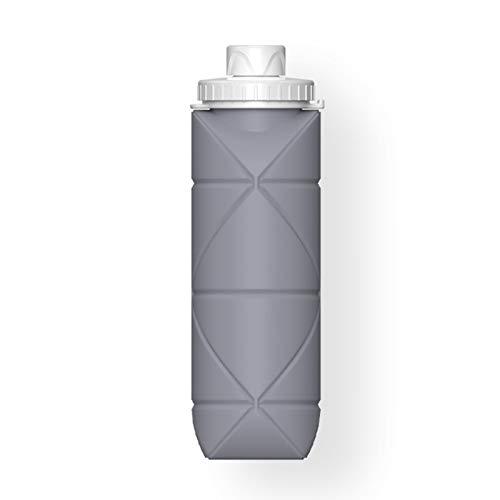 Taza telescópica de la botella de agua de la taza de agua plegable de silicona. (Color : 1)