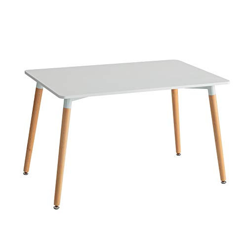 Mesa de Comedor nórdica Blanca de Madera para salón Basic - LOLAhome