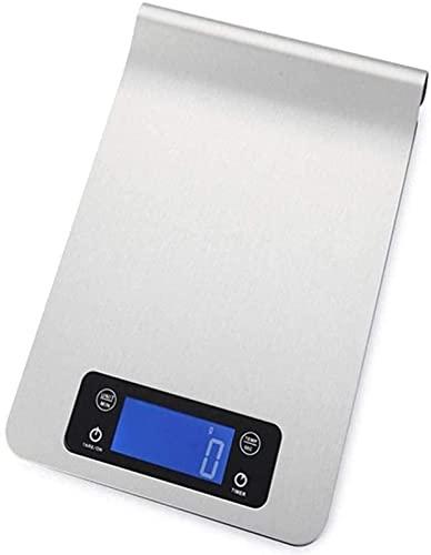 QUERT Escalas Cocina electrónica Digital 5 kg / 2g Mini Bolsillo eléctrico para Alimentos con Pantalla LCD de retroiluminación