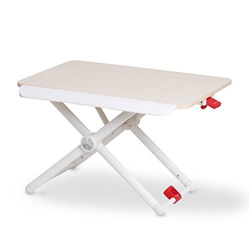 Salcar スタンディングデスク 上下昇降デスク リフトアップデスク 昇降テーブル 60*36 ガス式 5段階高さ調...