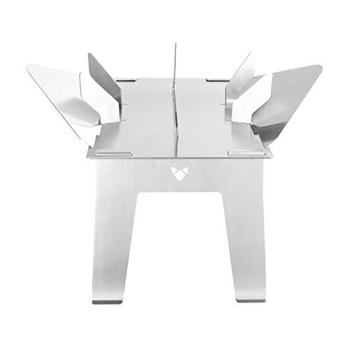 FENNEK Hexagon Stand UP Hitzeschutz | aus 100% Edelstahl | für Camping, Vanlife, Angeln oder den Garten