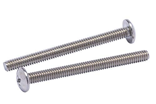 M3-0.5 Metric Coarse Threads Pack of 10 18-8 Stainless Steel Machine Screw Plain Finish Small Parts Phillips Drive Flat Head Vented 8mm Length