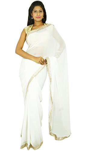 indischen traditionellen Sari Partei zu tragen Designer-Hochzeits Georgette Sari Geschenk für sie