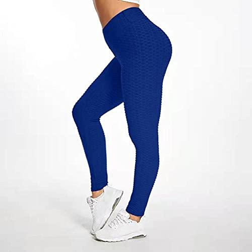 Mujer Ganduleado, Fitness Yoga Pantalones,Pantalones Deportivos de Fitness para Yoga;Pantalones Deportivos Burbuja de Cintura Alta-Blue_S,Fitness Bailan Deportivo para Mujeres Pantalones