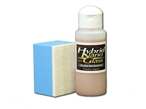 【ハイブリッドナノガラス】油膜・水垢・シミ除去コンパウンド!ガラスクリーナー/ガラスリフレッシャー