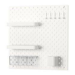 Ikea Combinación de tablero de clavijas, blanco 55,88 x 55,88 cm