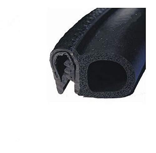 EUTRAS Dichtungsprofil KSD2053 Türgummi Kofferraumdichtung – Klemmbereich 2,0 – 3,5 mm - schwarz - 5 m