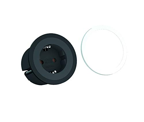 Bachmann 926.000 PIX 1x Schutzkontaktsteckdose Kunststoff schwarz