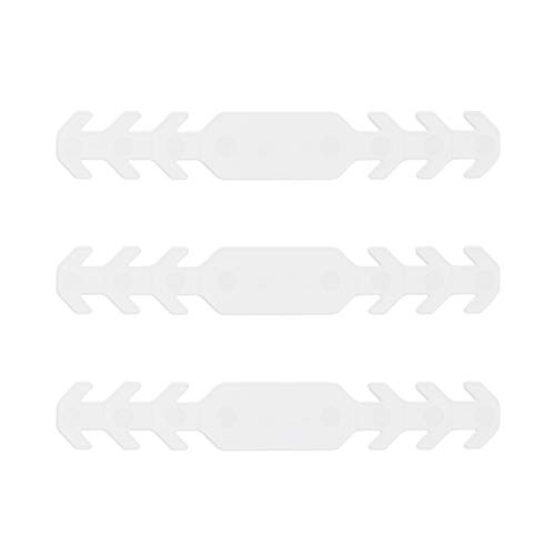 Sossai Flexibler Masken Halter | EMH | 3 Stück | Farbe: Weiss | Verstellbar in 3 Stufen | Verlängerung für Sanitärmaskenbänder | Ohrenschoner | Länge: 165mm | hochwertiger Kunststoff