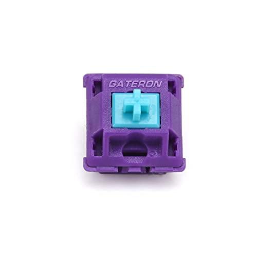 LICHONGUI 5Pin Rojo Azul 60G 70G Interruptor láser para Teclado mecánico DIY X Mito Láser Personalizado Gateron Interruptores de Teclado (Color : Cyan 60g 90pcs)