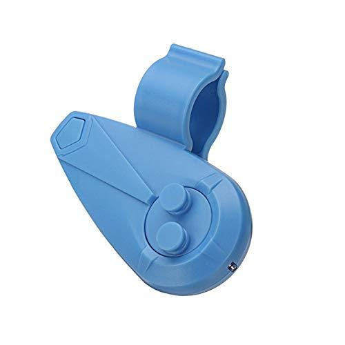 LUYOYO 20 metros Bluetooth luz LED electrónica alarma de pesca mordedura sonido alarma campana y varilla clip recordatorio (color: azul)