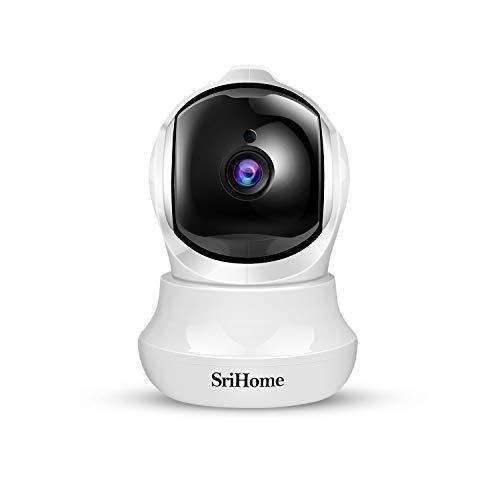Cámara Vigilancia WiFi Interior 1296P, Srihome Cámara Vigilancia Interior FHD con Visión Nocturna,Cámara de Mascota,Detección de Movimiento, Audio de 2 Vías, 2.4GHz WiFi, Compatible con iOS/Android