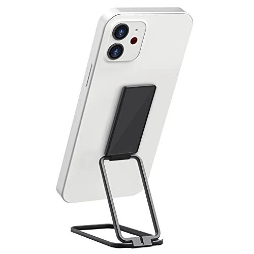mylovetime Handy Halterung, drehbar Handy Ständer Verstellbarer Tablet Halterung Ringhalter Fingerhalterung für Smartphone Schwarz
